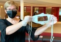 Transparante mondmaskers voor entourage van doven