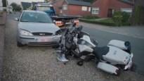 Motard politie Carma gewond na ongeval in Louwel