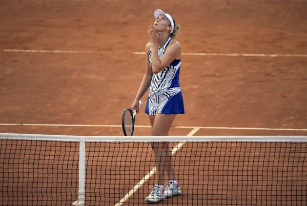 Elise Mertens wint eerste match op gravel makkelijk