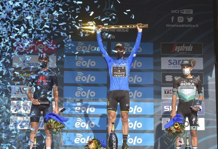Slottijdrit Tirreno-Adriatico: Filippo Ganna te snel voor Victor Campenaerts, eindzege voor Simon Yates