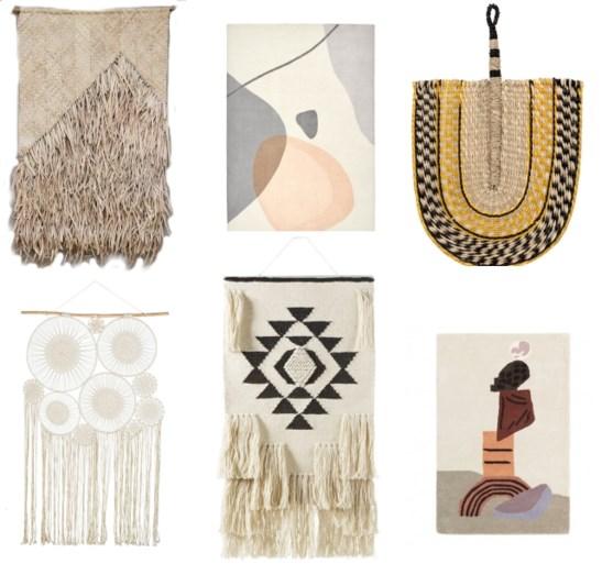 TREND. Hang eens wat textiel als kunst aan de muur