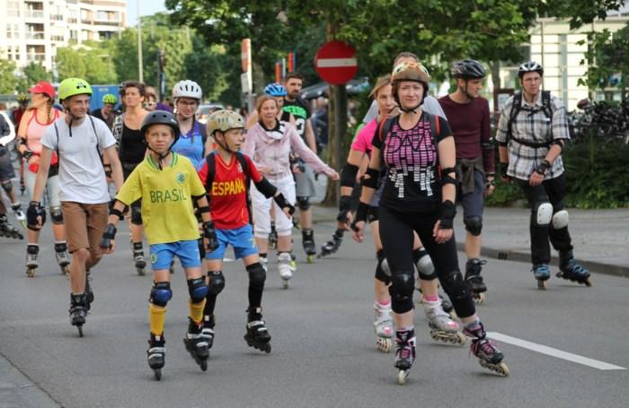 Twee dinsdagen 'Roller Bike Parade' in Hasselt