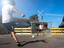 Gloednieuwe voetbalkooi op speelplaats Don Bosco Helchteren