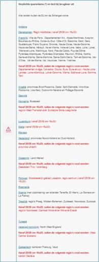 Nieuwe kleurcodes: Utrecht, Luxemburg en Lissabon worden vanaf vrijdag rode zone