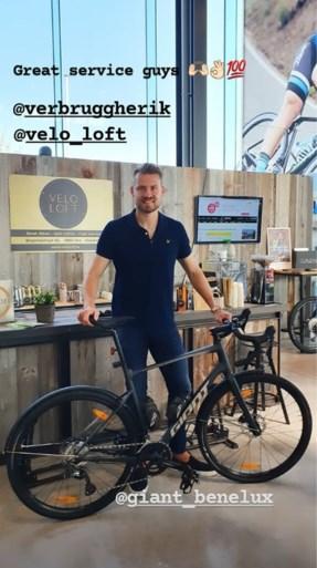 Simon Mignolet gaat langs bij de bondscoach voor een nieuwe fiets