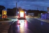 Brandweer ruimt oliespoor in Bree