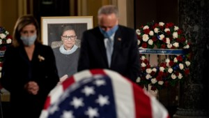 Overleden opperrechter Ruth Bader Ginsburg als eerste vrouw en jood opgebaard in Capitool
