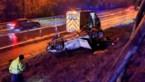 Auto op dak in de berm van de E314, hondje gewond