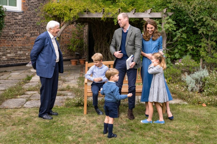 Prins George krijgt grote verrassing van zijn grote held David Attenborough