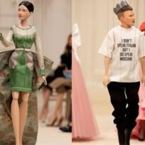 Moschino maakt indruk met modeshow met poppen
