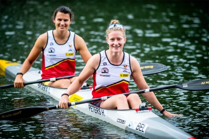 Hermien Peters en Lize Broekx pakken hun eerste gouden World Cup-medaille in het kajak