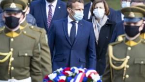 Franse president Macron belooft oppositieleider Wit-Rusland te bemiddelen