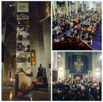 """Doek met Tom Hercks gekruisigde koe op uit kerk in Nice gestolen: """"Religieuze fanatiekelingen"""""""