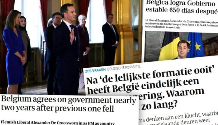"""België haalt buitenlandse pers: van """"650 dagen"""" tot """"lelijkste formatie ooit"""""""