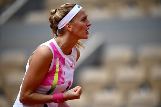 Petra Kvitova voorbij Laura Siegemund naar halve finales Roland Garros