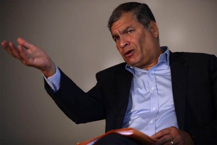 Ecuador vraagt arrestatie oud-president Correa, in ballingschap in België