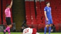 Duurste verdediger ter wereld Harry Maguire is kop van jut na vroege rode kaart tegen Denemarken