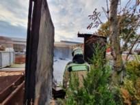 Grote rookpluim door brand in afvalcontainer in Gruitrode