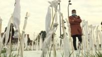 745 witte vlaggetjes symboliseren Beringenaren in armoede
