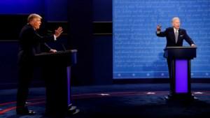 Microfoons van Trump en Biden tijdelijk uit als andere spreekt tijdens tweede debat