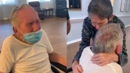 """Bejaard koppel ziet elkaar terug na meer dan 200 dagen: """"Ik heb je zo gemist"""""""