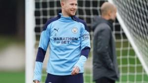 Kevin De Bruyne staat weer op het trainingsveld bij Manchester City