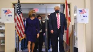 """Donald Trump heeft zijn stem uitgebracht: """"Ik heb voor een man die Trump heet gestemd"""""""