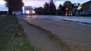 Diestersteenweg in Maaseik zaterdagochtend afgesloten door waterlek