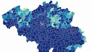 Kaart toont hoe coronavirus in enkele weken tijd alle provincies van ons land overspoelde
