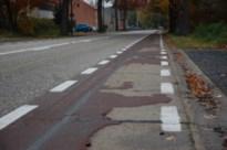 Asfalt vervangt beton op fietspaden Heuveneinde en Houthalenseweg