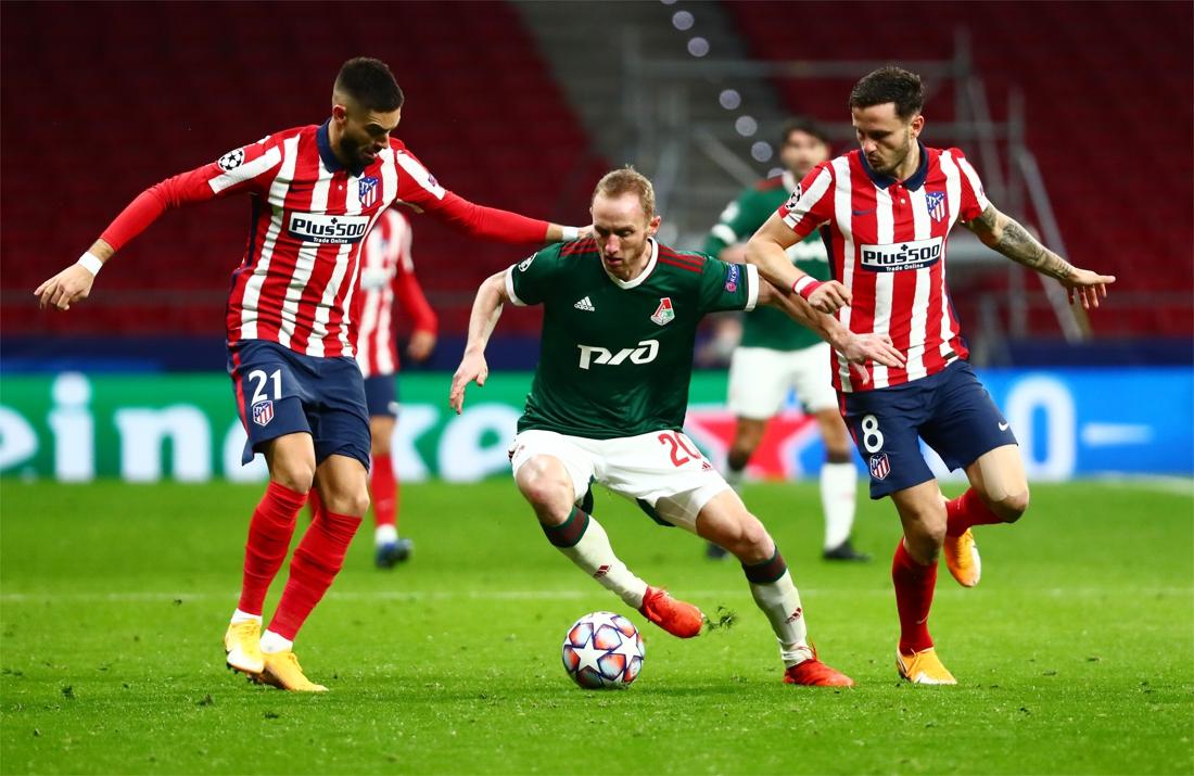 Ingevallen Yannick Carrasco zorgt mee voor zesde opeenvolgende overwinning Atlético Madrid