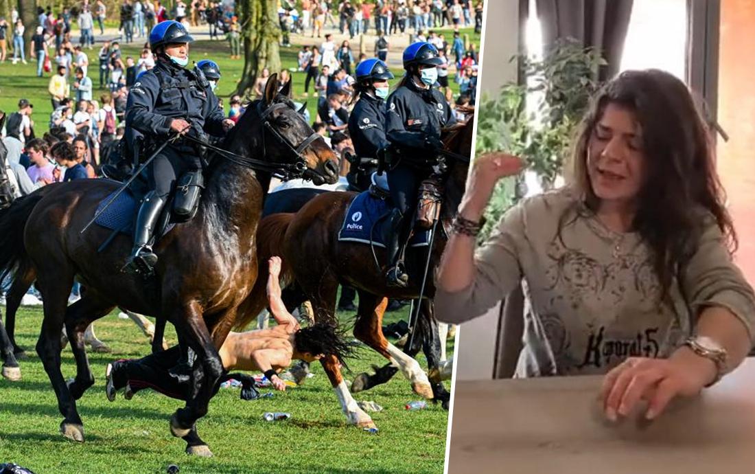 """Vrouw die op La Boum omver werd gelopen door politiepaard in Ter Kamerenbos: """"Dit had fataal kunnen aflopen"""""""