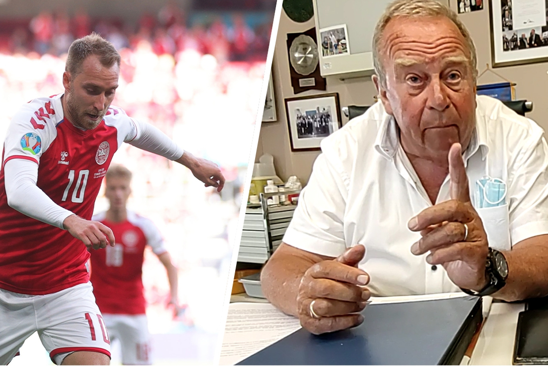 """Christian Eriksen dankt zijn leven ook aan Michel D'Hooghe: """"Maak defibrillator en reanimatiecursus overal in het voetbal verplicht"""""""