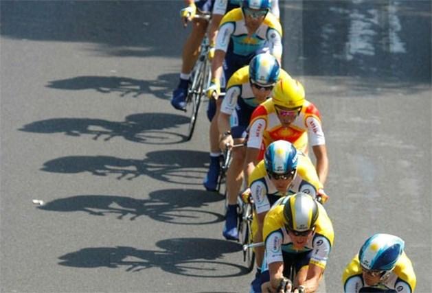 Astana wint de ploegentijdrit, Armstrong nét geen geel