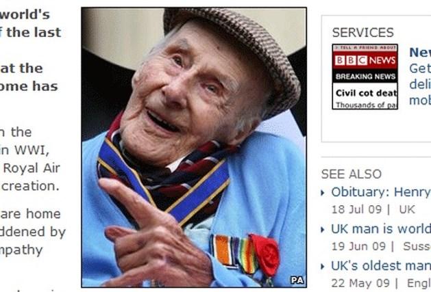 Groot-Brittannië verliest voorlaatste veteraan WOI