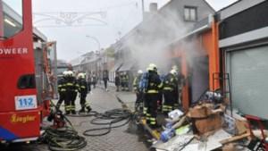 Brand vernielt winkel in Baarle-Hertog