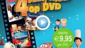 Spaar met Het Belang van Limburg voor 4 Disney-films op DVD