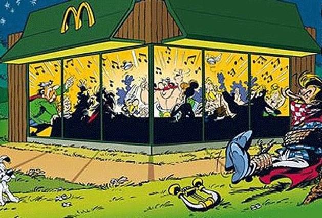 Fans Asterix spreken schande over McDonalds-reclame