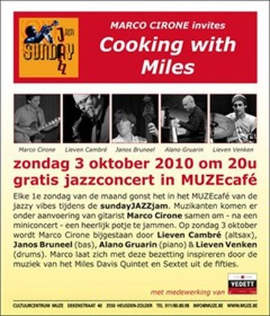 Vanavond gratis jazzconcert in MuzeCafé Zolder
