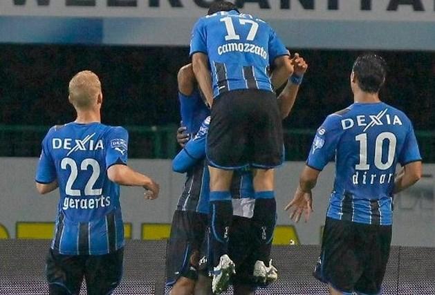 Club Brugge vierde na winst tegen Zulte Waregem