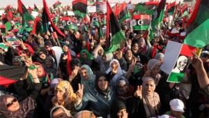 Libiërs massaal op straat in Benghazi