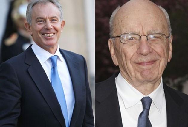 Tony Blair is peetoom van dochter Rupert Murdoch
