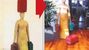 Kabinetschef Peumans loopt kunstwerk omver