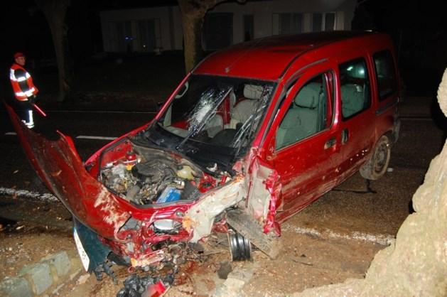 Bestelwagen crasht tegen boom in Heers