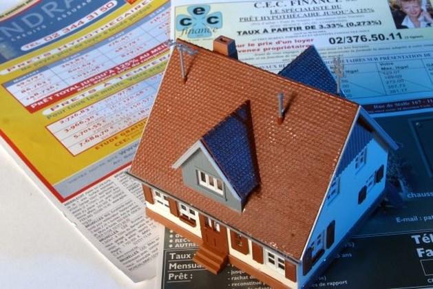 Kwart minder hypothecaire kredieten in februari