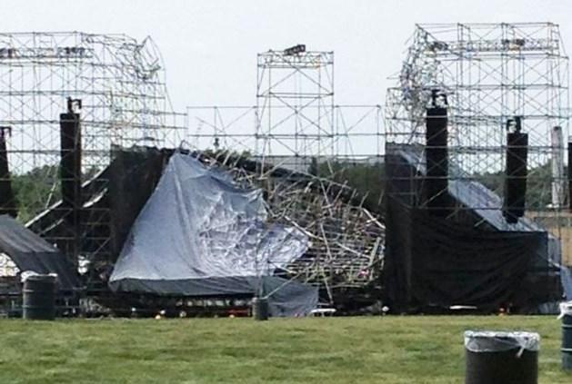 Podium Radiohead-concert stort in: 1 dode (video)