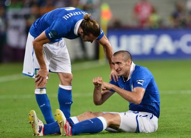 Italiaan Chiellini mist kwartfinale door spierblessure