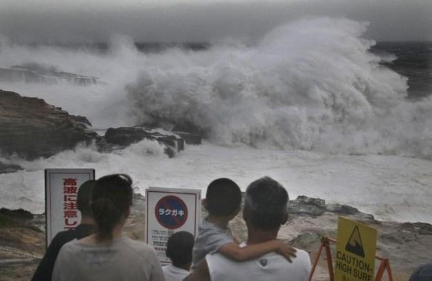 Zware tyfoon treft Japan