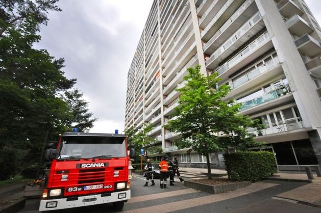 Terrasbrand op vijftiende verdieping van Zonneweelde in Genk