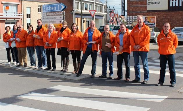 Straatbeeld van Riemst kleurt oranje